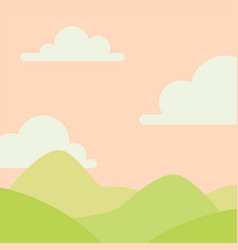 soft nature landscape with sky mountains and vector image