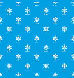 star sheriff pattern seamless blue vector image