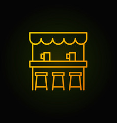 Street beer bar yellow icon or symbol in vector