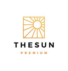 Sun logo icon vector