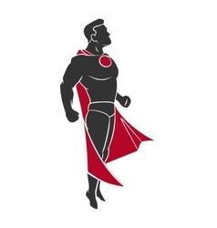 Superhero flying up vector image