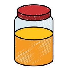 Sweet honey isolated icon vector