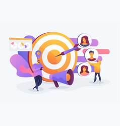 Target audience concept vector