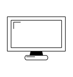 television screen isolated icon vector image
