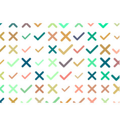Tick or cross mark right or wrong sign background vector
