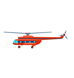 transport helicopter isolated icon vector image