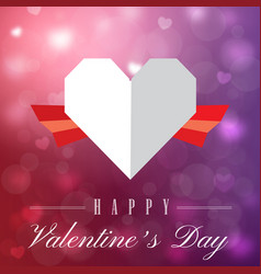 Valentine day two tone heart image vector