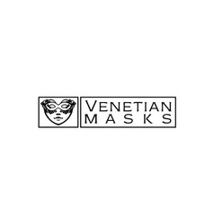 venetian-masks-logo vector image