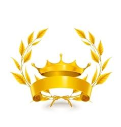 Vintage emblem gold vector