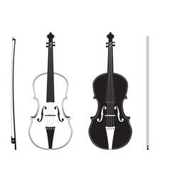 Violin Silhouette3 vector image