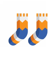 Winter Wool Socks Icon vector image vector image