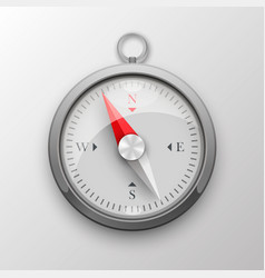 3d compass on white background vector