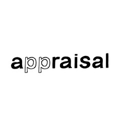 appraisal hand drawn lettering vector image