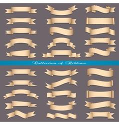 Big set of banners ribbons scrolls vector