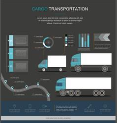 Cargo logistics service infographic design vector
