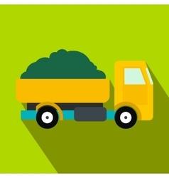 Farmer truck flat icon vector image