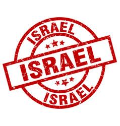 israel red round grunge stamp vector image