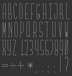 latin cartoon doodle alphabet vector image