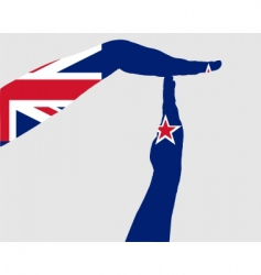 New Zealand timeout vector image vector image