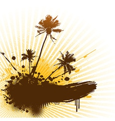 Palms with place for text vector image vector image