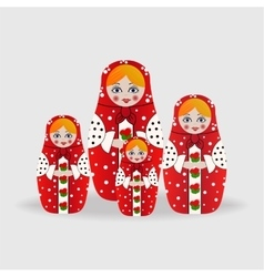 Russian dolls or matryoshka dolls vector image