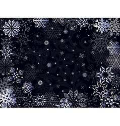 Christmas greeting card in dark blue hues vector image vector image