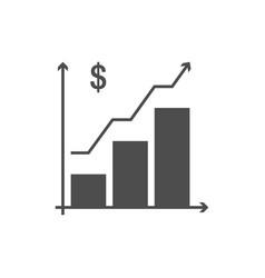 growing schedule icon vector image vector image