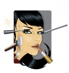 makeup vector image