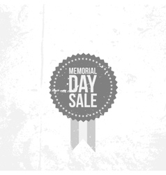 Memorial Day Sale Emblem with Text vector image