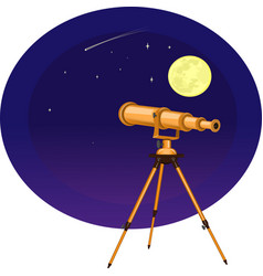 a telescope on the vector image