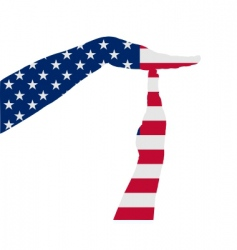 American timeout vector image