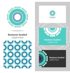 Business abstract logo icon for your company vector image vector image