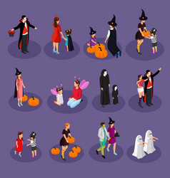 isometric halloween holiday collection vector image vector image