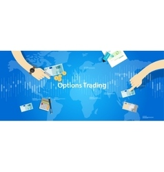 options trading concept market vector image vector image
