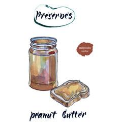 peanut butter watercolor vector image vector image