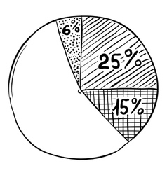 Round diagram infographics hand drawn style vector image