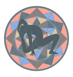yoga and mandala vector image