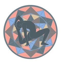 yoga and mandala vector image vector image