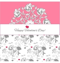 Background with ornamental round peonies vector image