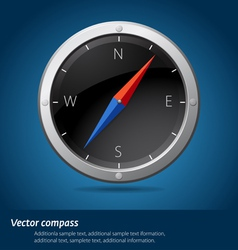 Black compass vector image
