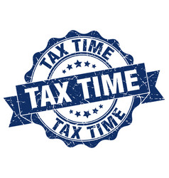 Tax time stamp sign seal vector