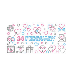 14 february outline valentines day vector image