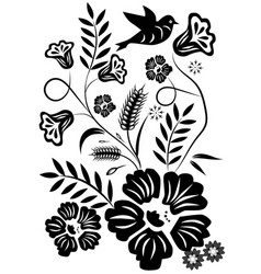abstract flower graphic design vector image