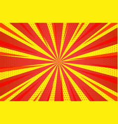 Abstract red yellow zoom lines empty background vector
