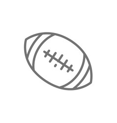american football ball line icon vector image