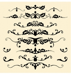 Antique ornaments vector