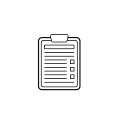 application form line icon edit vector image