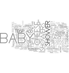 baby shower recipes food ideas for your shower vector image