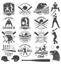 Baseball club badge concept vector