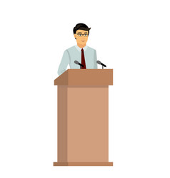 businessman orator speaking vector image